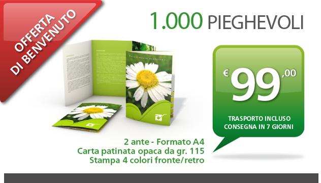 Stampa online pieghevoli in offerta | Tipografia Facciotti Roma
